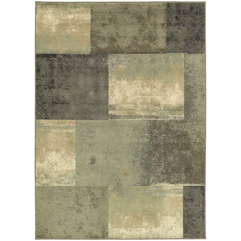 "Carbon Loft Liepmann Scrapbook Blocks Green/ Multicolored Area Rug - 5'3"" x 7'3"""