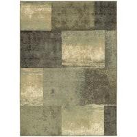 Carbon Loft Liepmann Scrapbook Blocks Green/ Multicolored Polypropylene/ Synthetic Area Rug - 5'3 x 7'3