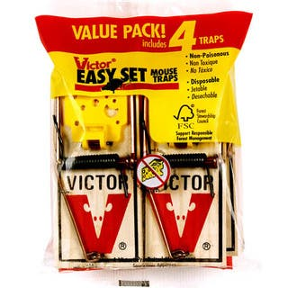 Victor M032 Easy Set Mouse Traps 4 Count|https://ak1.ostkcdn.com/images/products/12958467/P19708228.jpg?impolicy=medium