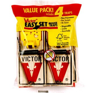Victor M032 Easy Set Mouse Traps 4 Count