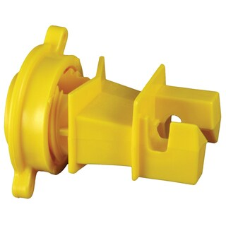 Zareba IRY-RS Yellow Rod Post Insulator 25 Count