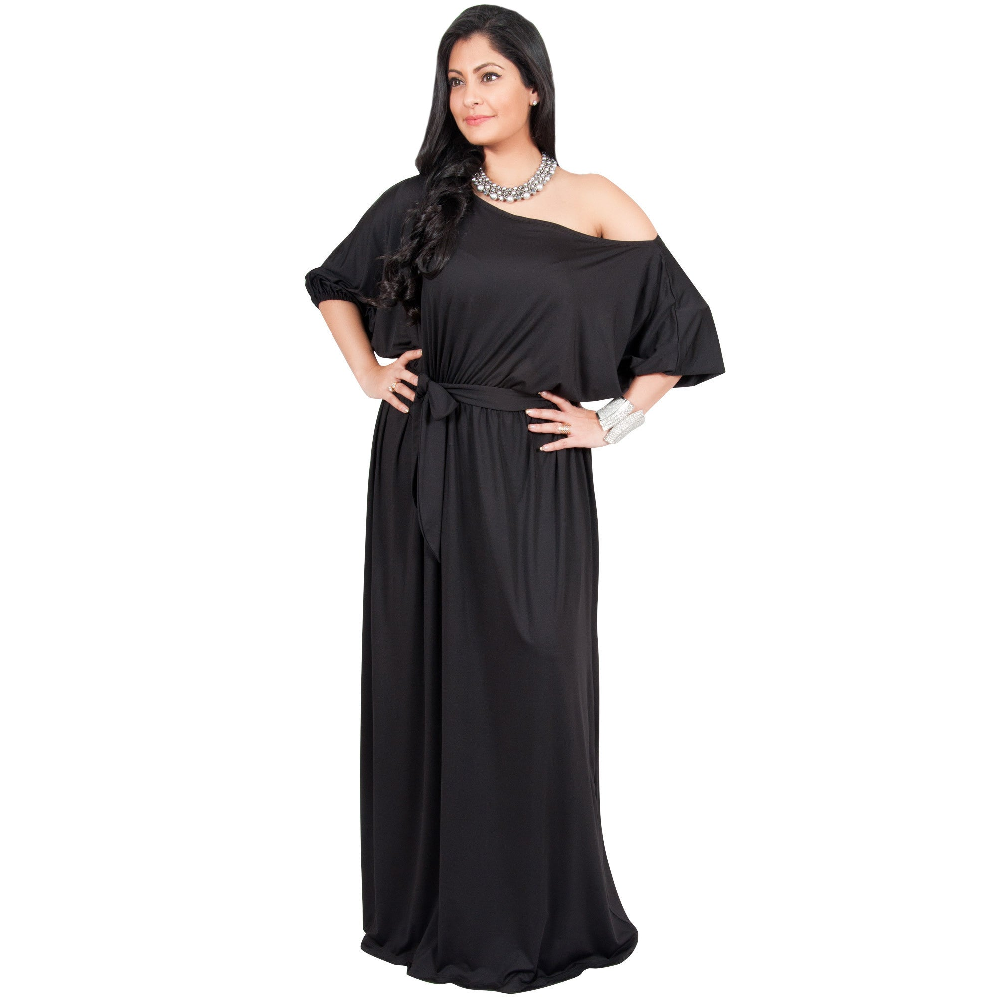 Global Adelyn & Vivian Women's Polyester Plus-size Long O...