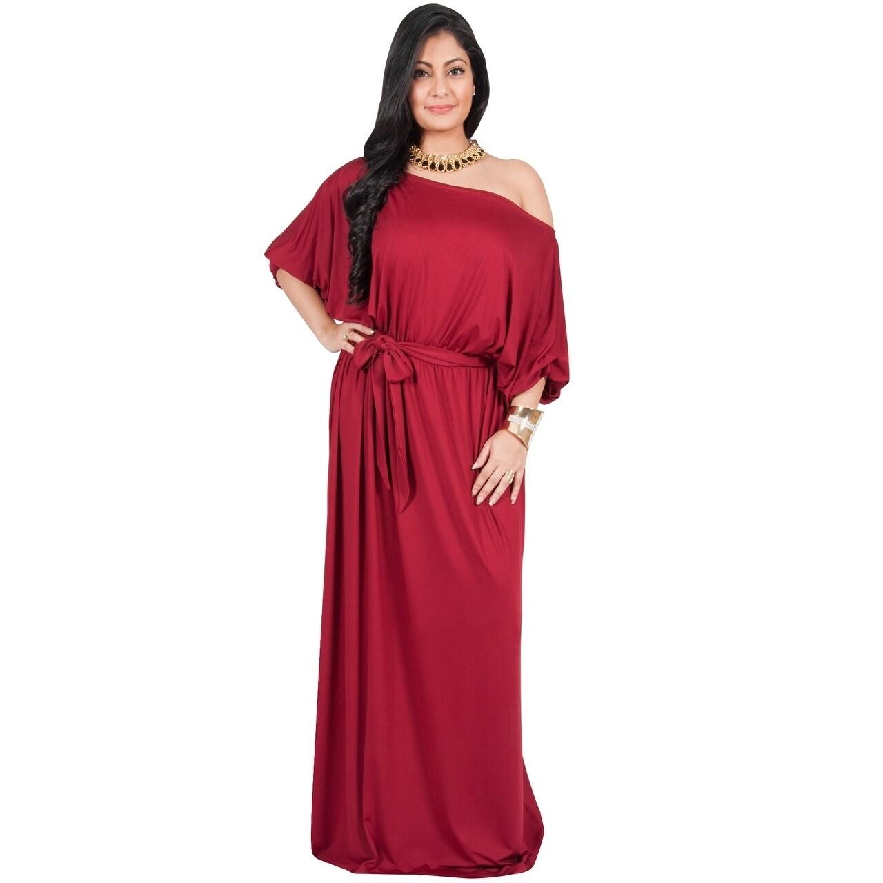 Shop Adelyn & Vivian Womens Polyester Plus-size Long Off-shoulder ...