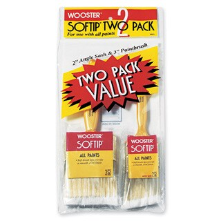 Wooster 5971 Softip 2 Pack Value Paint Brushes