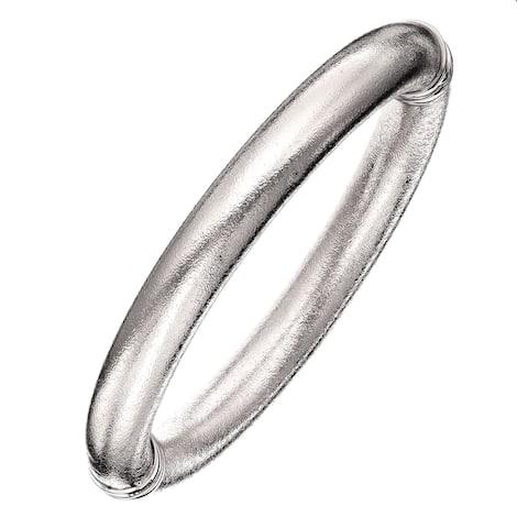 Isla Simone - Fine Silver Electro Plated 10MM Mill Grained Bangle