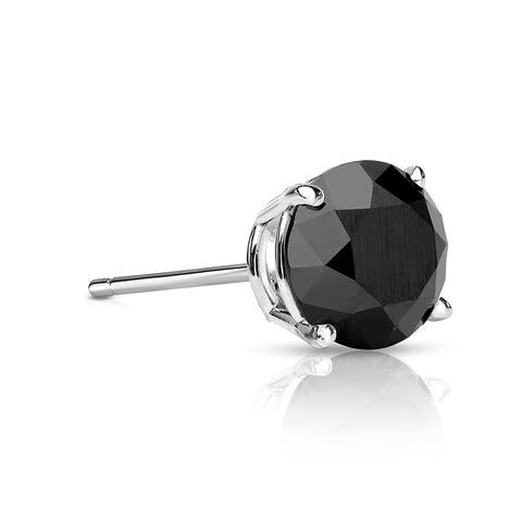Auriya 1/4ctw Round Black Diamond SINGLE (1) Stud Earring 14k Gold