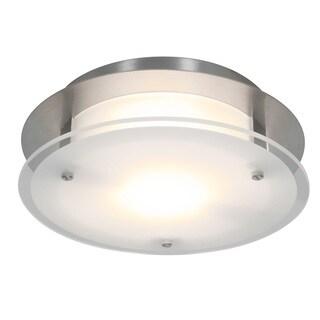 Access Lighting VisionRound 1-light Brushed Steel 10-inch Flush Mount