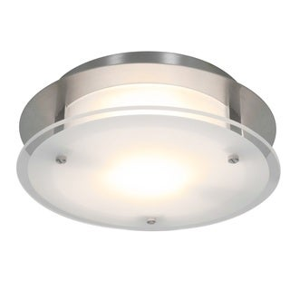 Access Lighting VisionRound 1-light Brushed Steel 10-inch Flush Mount