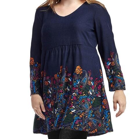 La Cera Women's Plus Size Bodice Lined Top