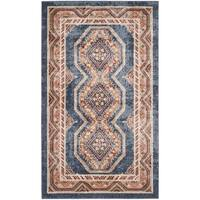 Safavieh Bijar Traditional Oriental Royal Blue/ Rust Distressed Rug - 3' x 5'