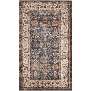 Safavieh Bijar Traditional Oriental Royal Blue / Ivory Distressed Rug (3' x 5')
