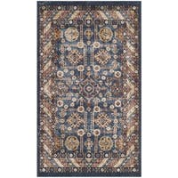 Safavieh Bijar Traditional Oriental Royal Blue/ Ivory Distressed Rug - 3' x 5'