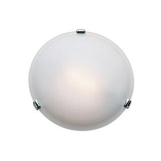 Access Lighting Nimbus 1-light Chrome 13-inch Flush Mount, Frosted Shade
