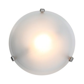 Access Lighting Nimbus 1-light Satin 13-inch Flush Mount, Frosted Shade
