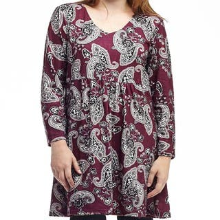 La Cera Women's Rayon and Spandex Plus-size Bodice-lined Top|https://ak1.ostkcdn.com/images/products/12959331/P19708879.jpg?impolicy=medium