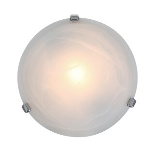Access Lighting Nimbus 1-light Chrome 13-inch Flush Mount, Alabaster Shade