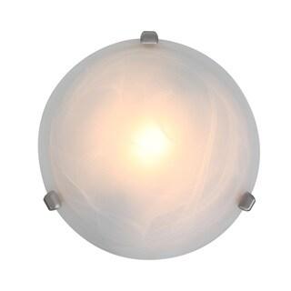 Access Lighting Nimbus 1-light Satin 13-inch Flush Mount, Alabaster Shade