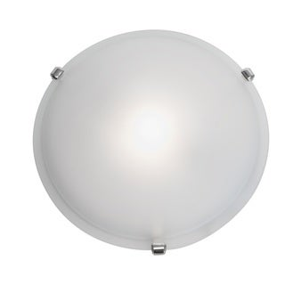 Access Lighting Nimbus 1-light Chrome 16-inch Flush Mount, Frosted Shade
