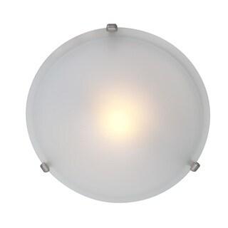 Access Lighting Nimbus 1-light Satin 16-inch Flush Mount, Frosted Shade