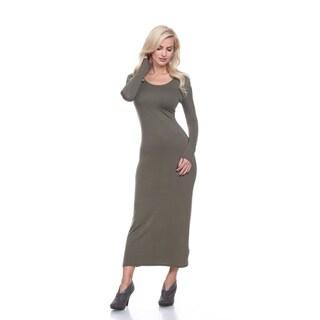 White Mark Women's 'Ria' Multicolor Viscose/Spandex Maxi Dress