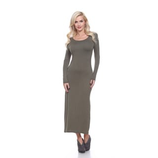 Link to White Mark Women's 'Ria' Multicolor Viscose/Spandex Maxi Dress Similar Items in Dresses