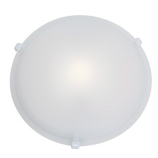 Access Lighting Nimbus 1-light White 16-inch Flush Mount, Frosted Shade