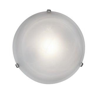 Access Lighting Nimbus 1-light Satin 16-inch Flush Mount, Alabaster Shade
