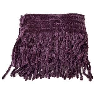 Purple Acrylic Chenille Hypoallergenic Scarf