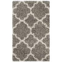 Safavieh Hudson Quatrefoil Shag Grey/ Ivory Rug (2' x 3')