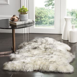 Safavieh Prairie Natural Pelt Sheepskin Wool Ivory/ Smoke Grey Shag Rug (2' x 3')|https://ak1.ostkcdn.com/images/products/12959481/P19709083.jpg?impolicy=medium