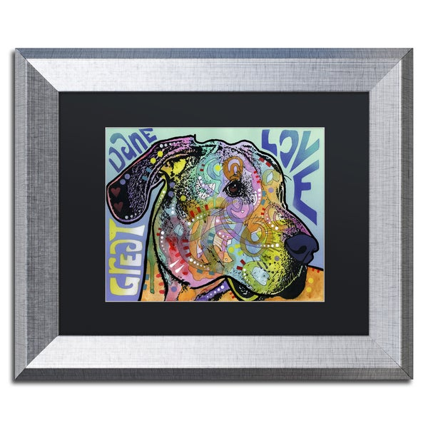Dean Russo 'Great Dane Luv' Matted Framed Art
