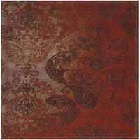 Safavieh Classic Vintage Rust/ Brown Cotton Distressed Rug - 6' Square