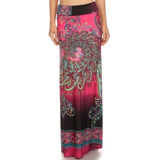 Women's Paisley Ornate Maxi Skirt