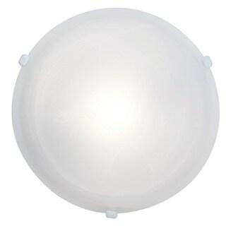 Access Lighting Nimbus 1-light White 16-inch Flush Mount, Alabaster Shade