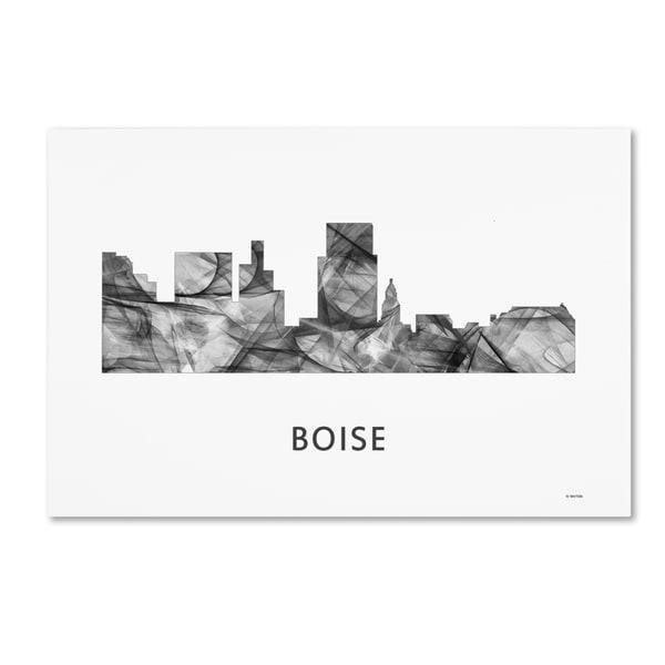 Marlene Watson 'Boise Idaho Skyline WB-BW' Canvas Art