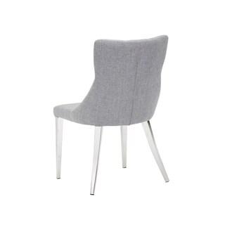 Sunpan Chambers Grey Fabric Dining Chair