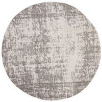 Safavieh Classic Vintage Silver/ Ivory Cotton Distressed Rug - 6' Round