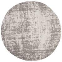 Safavieh Classic Vintage Silver/ Ivory Cotton Distressed Rug - 6' x 6' Round