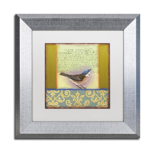 Rachel Paxton 'Small Bird 233' Matted Framed Art