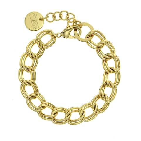 Isla Simone - 18 Karat Gold Electro Plated Double Twisted Link Bracelet