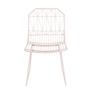 Kate and Laurel Thrapston Metal Geometric Accent Chair