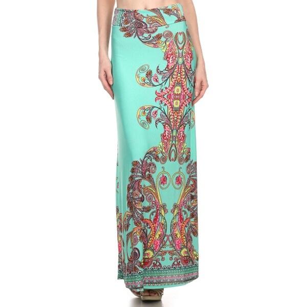 Women's Ornate Paisley Maxi Skirt
