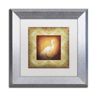 Rachel Paxton 'Woodside Egret' Matted Framed Art