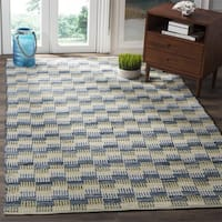 Safavieh Hand-Woven Montauk Flatweave Gold / Multicolored Cotton Rug - 6' Square