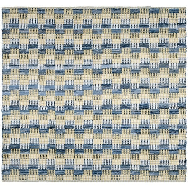 Safavieh Hand-Woven Montauk Flatweave Gold / Multicolored Cotton Rug (6' Square)