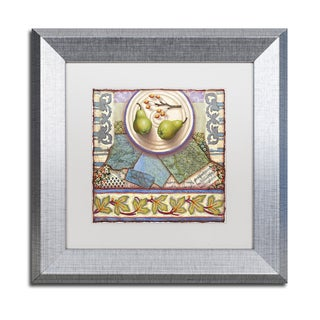 Rachel Paxton 'Tuscan Pears' Matted Framed Art