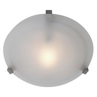 Access Lighting Cirrus 1-light Satin12-inch Flush Mount