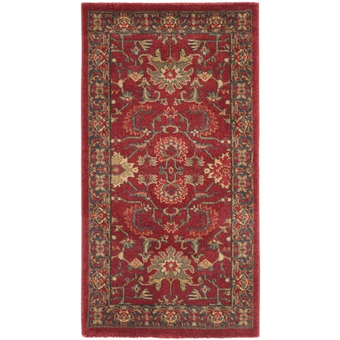 Safavieh Mahal Red / Navy Rug - 2' 2 x 4'