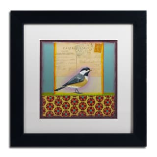 Rachel Paxton 'Chickadee' Matted Framed Art