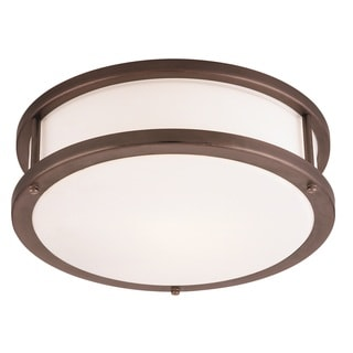 Access Lighting Conga 2-light Bronze16-inch Flush Mount